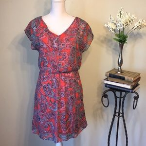 The Limited orange and blue summer dress, size S